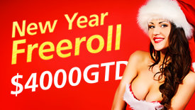 New year eve freeroll $4,000