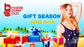 Summer Gift season at Mobile Poker Club