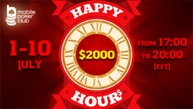 Happy Tick-Tock in Mobile Poker Club!